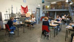 Cursusruimte creatief tekenen en schilderen Heerenveense school