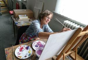 Leren tekenen en schilderen op de dinsdagochtend. Inspirerend en gezellig.