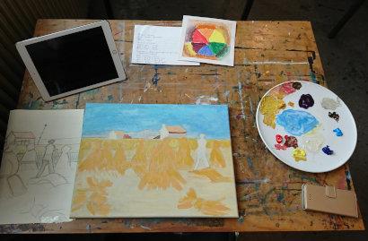 Leer op een ontspannen manier tekenen en schilderen bij Kunsthuis De Vleugel op de woensdagavond