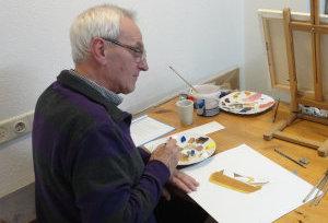 Leer stapsgewijs goed schilderen met de cursus realistisch schildereren in wijkcentrum De Spil in Sneek